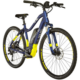 HAIBIKE SDURO Cross 7.0 Femme, blue/yellow/silver matte